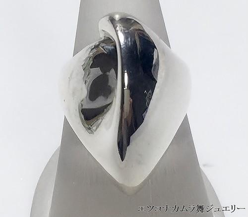 しなやかな曲面 シルバーデザインリング JE3