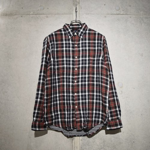 POLO RALPH LAUREN CLASSIC FIT CHECK SHIRT / RED x BLACK