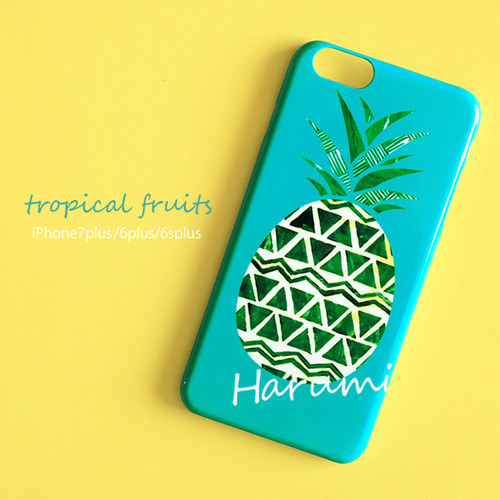 【オーダーメイド】  iPhone スマホケース 【tropical fruits】 iPhone8plus/7plus/6plus/6splus