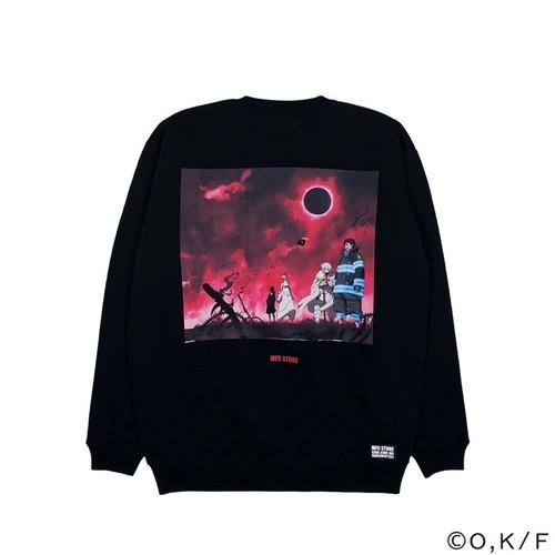 MFC STORE × 炎炎ノ消防隊 CREWNECK TYPE1 / BLACK