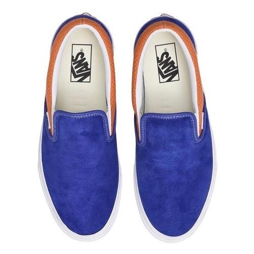 VANS / CLASSIC SLIP-ON -R.BLUE/A.BUFF-
