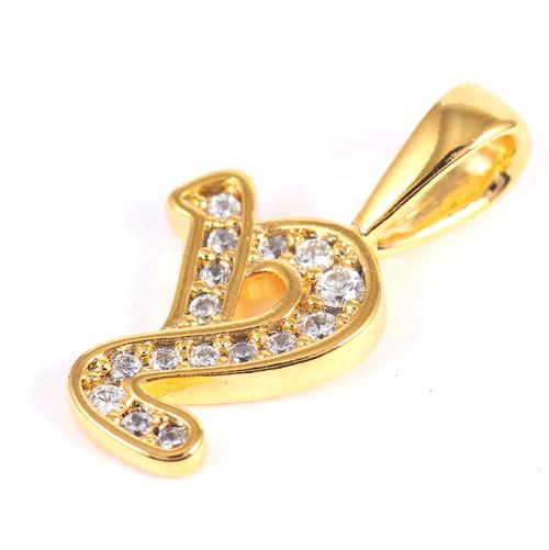 K18GP 【y】ダイヤモンドアルファベット パヴェ チャーム