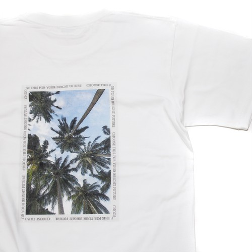 BACK PALM TREE PHOTO T-SHIRT