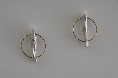circle stick pearl / Pierced