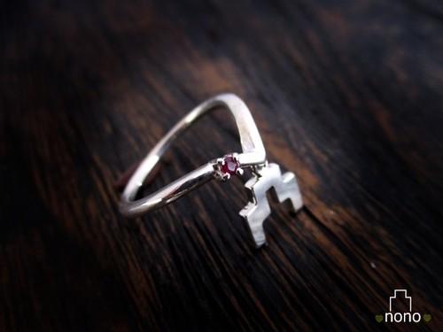 「Shirokigou Ring」<silver> 城ガールおすすめ、城記号のリング