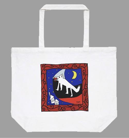 【バレンタイン&ホワイトデー スペシャル♥】トートバッグ「Oubli / 忘れるということ」たっぷり大容量 L サイズのトートです!  ホワイト