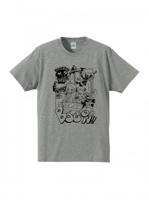 磋藤にゅすけ・シギコラボTシャツ(灰色地,黒プリント)
