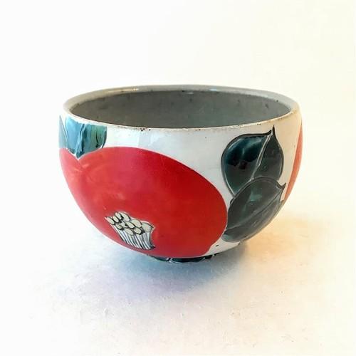 井上工房 6-5 赤椿抹茶碗
