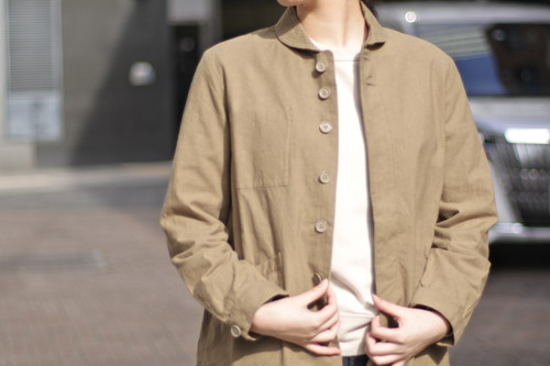 【maillot】chino deck shirt col.BEIGE