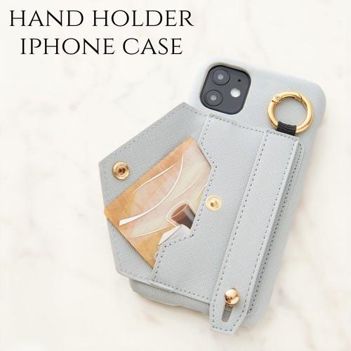 iphone ケース かわいい バンド ホルダー iphone SE(第二世代) iphone11 おしゃれ iphone7 8 iphoneXR Xs max 大人 可愛い スマホケース レディース くすみブルー