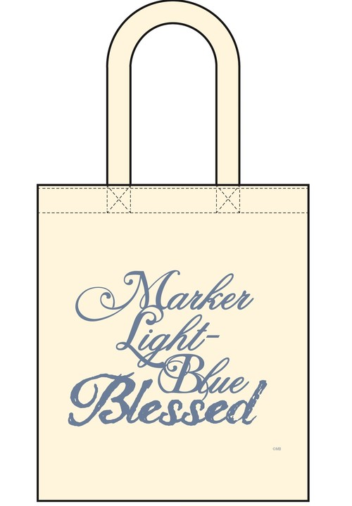 MARKER LIGHT-BLUE トートバッグ