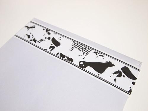 梱包テープ 牛型牛柄