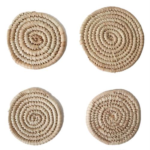 ハウサ族のかご編み コースター / Hausa Basket Coaster