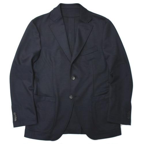 【READY MADE】ビジカジスタイル ジャージージャケット ネイビー無地 シングル2釦