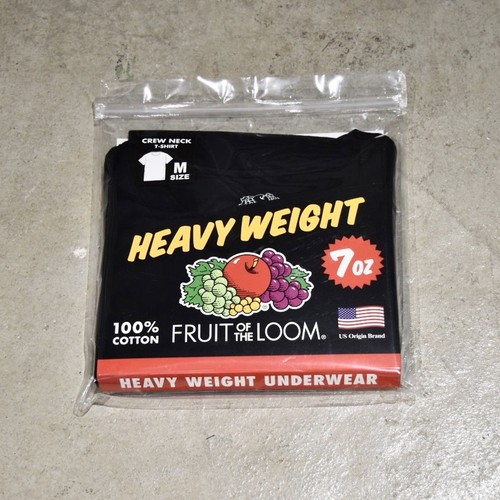 FRUIT OF THE LOOM HEAVY WEIGHT TEE / BLACK