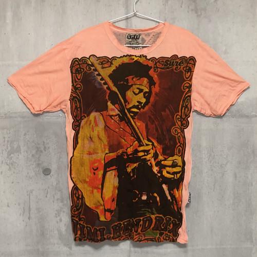 【送料無料 / ロック バンド Tシャツ】JIMI HENDRIX / Big Print Salmon Pink Men's T-shirts M ジミ・ヘンドリックス / ビッグ プリント サーモンピンク メンズ Tシャツ M
