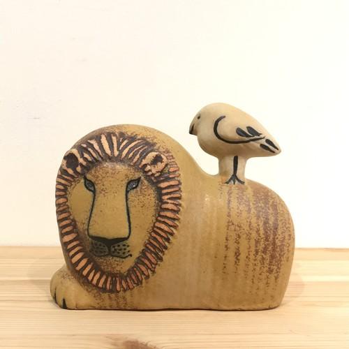 Lisa Larson リサ・ラーソン/Lion with Bird ライオンと鳥