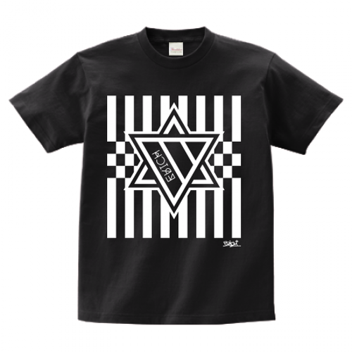 ERICH / HEXAGRAM STRIPE T-SHIRT BLACK