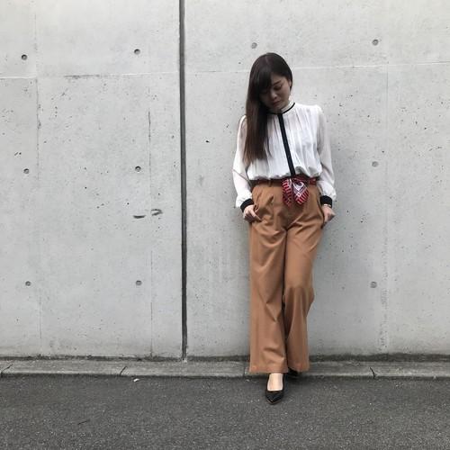 ANNAKERRY/スカーフ付きワイドパンツ