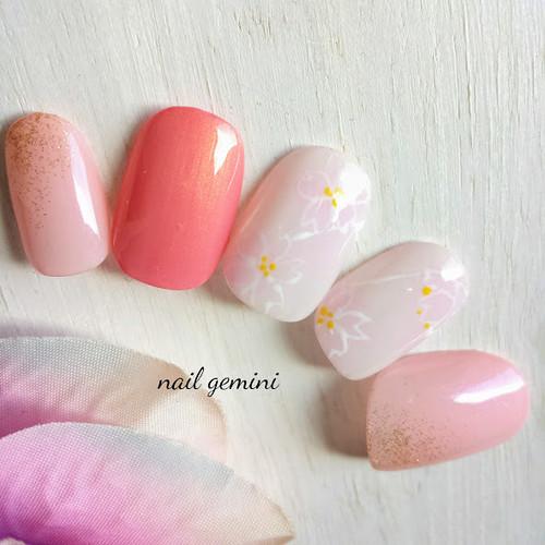 ふんわり桜ネイル