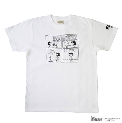 COMIC TEE / WHITE × BLACK