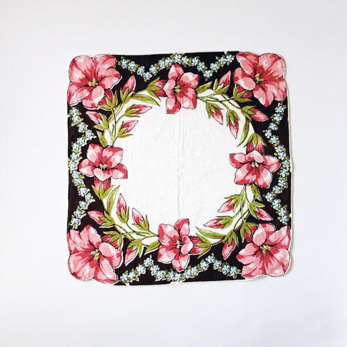 Vintage Printed Handkerchief 009・ヴィンテージ プリントハンカチ 009 U.S.A