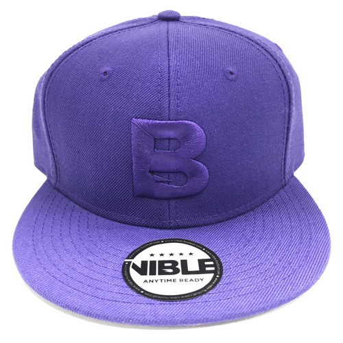 Nible Flat Visor Cap / Purple
