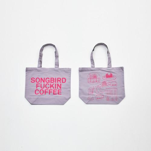 Anoraks   SONGBIRD FUCKIN COFFEE TOTE Anoraks Size [Gray+Pink]