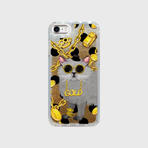 グリッタースマホケース「ペルシャ-ゴールド」iPhone 6・7・8・X