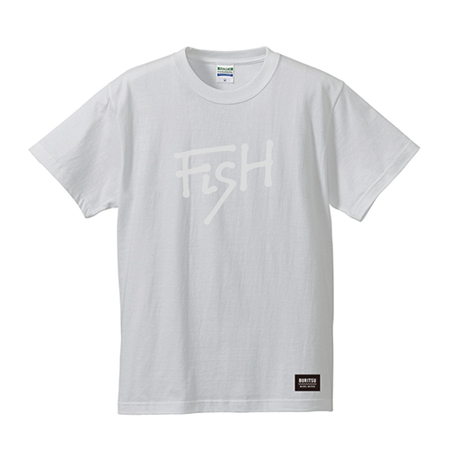 BURITSU FiSH Tee : White×White