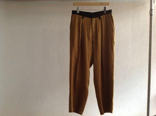 "theSakaki ""semi wide pants mustard"""