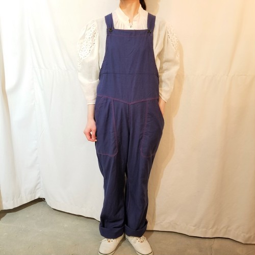 Dead stock vintage overall /Made In DDR [K-868]