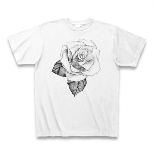 手書き薔薇ロゴTシャツ