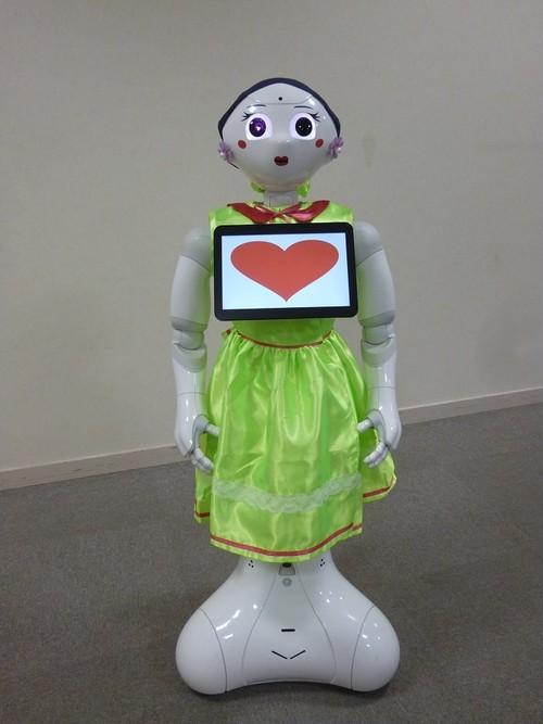 ロボット☆ファッション☆ドレス☆グリーン☆Pepper向け PDR16-002