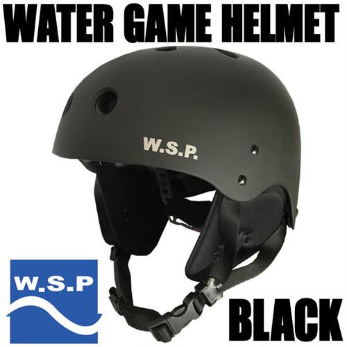 JWBA認定品 超軽量W.S.P.ウォータースポーツ用ヘルメット ブラック スケボーシェイプ