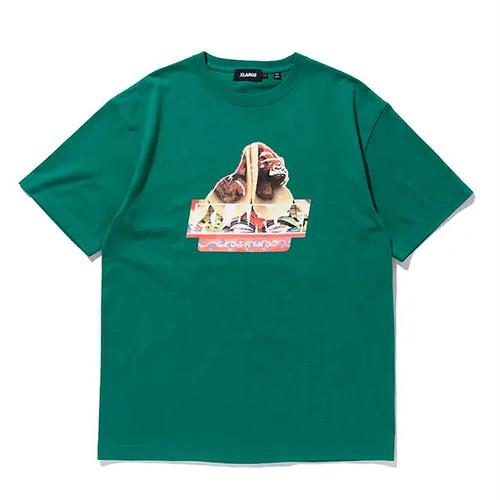 X-LARGE エクストララージ GRUB SLANTED OG 半袖ロゴ・グラフィックプリントTシャツ GREEN 9212868 [並行輸入品]