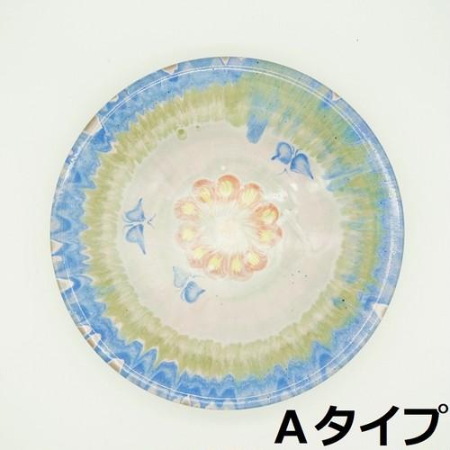 スリップウェア 春の大皿【唐仙窯】