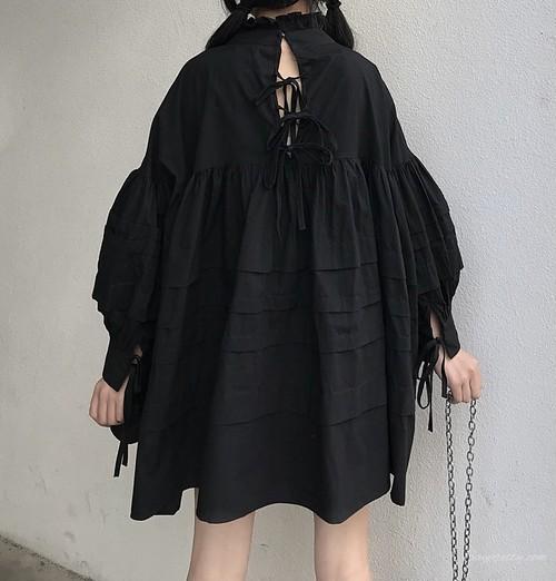 【ワンピース】2019秋冬ファッションレトロスタンドネックボールガウンワンピース