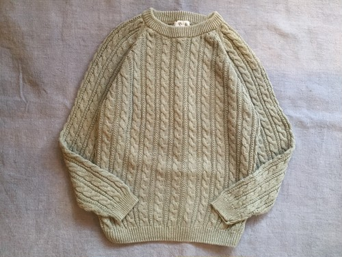 1980's Old Cable Knit Sweater