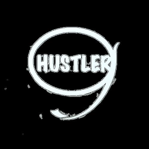HUSTLER ステッカー(ホワイト)