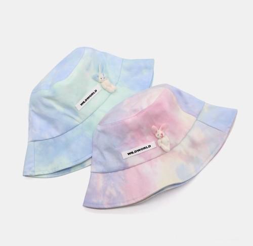 アイスタイダイラビットバケットハット(Pink,Blue) 60