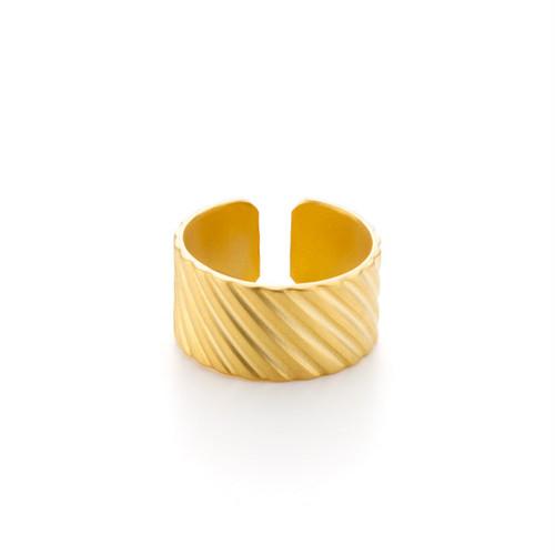 Wide Textured Ring - Bias