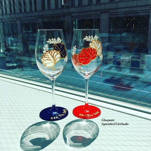 【葵】クリスタルワイングラス1個※色をお選びください|父の日ギフト・誕生日プレゼント・還暦祝い・還暦祝い