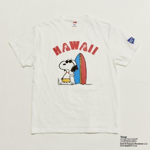 """""""SNOOPY HAWAII """" TEE - WHT"""