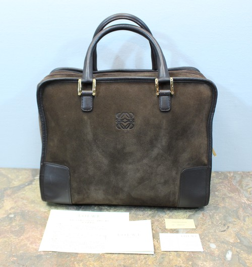 2000000027944 LOEWE ANAGRAM PATTERNED LEATHER HAND BAG MADE IN SPAIN/ロエベアナグラム柄型押しレザーハンドバッグ