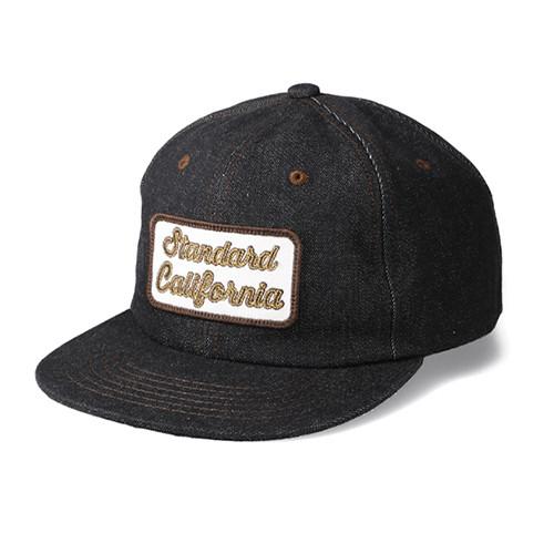 STANDARD CALIFORNIA #SD Logo Patch Denim Cap Black