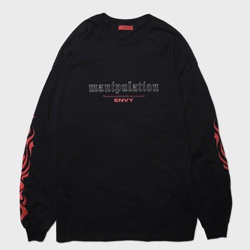 """manipulation""Long Sleeve(Red)"