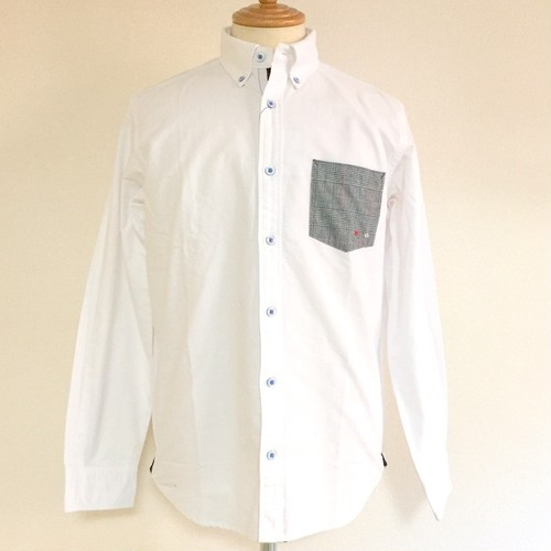 Pocket Glen Check BD Shirts White