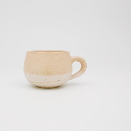 マグカップ 黄土×白荒土
