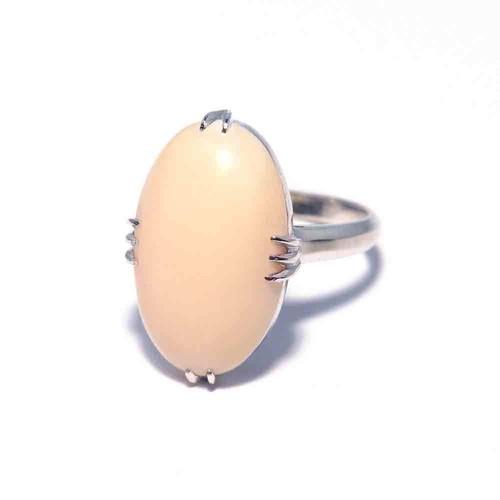 Vintage Japanese Ring - K14WG Coral #12